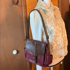 GAL maroon faux leather purse gently loved 💕
